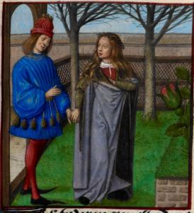 from Le Roman de la Rose. Bruges c.1490 British Library Harley 4425   f. 184v