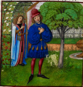 from Le Roman de la Rose. Bruges c.1490 British Library Harley 4425   f. 184v