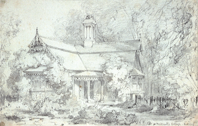 Peckham's Cottage, Redleaf, by Edward Cooke, 1837 National Maritime Museum