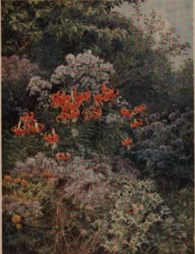 The Careless Grace of Autumn, by George Elgood from Alfred Austin's The Garden that I love, 1894