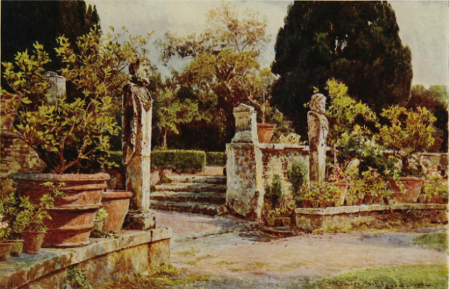 In the garden of the Villa Piatti, from In Italian Gardens, 1907