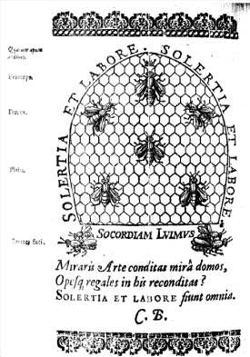 The frontispiece of 1623 edition of Feminine Monarchie