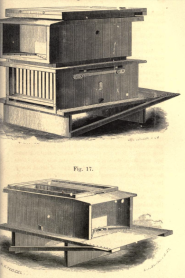 Lonzo Langstroth's movable frame hive, from  A practical treatise on the hive and honey-bee
