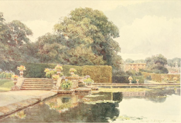 The Pool at Bramham, from Some English Gardens, 1904