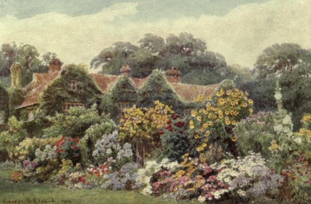 The frontispiece of The Garden that I love by Alfred Austin, 1904
