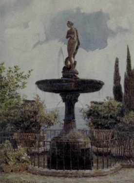 A Noble Fountain, dated 1903 from Lamia's Winter Quarters by Alfred Austin, 1907