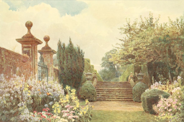 The Terrace Steps at Penshurst, from Some English Gardens, 1904