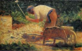 Georges Seurat Stone Breaker And Wheelbarrow Le Raincy,