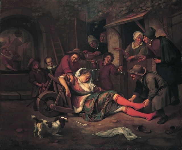 Wine is a mocker, by Jan Steen