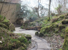 The path into the lower part of the Quarry Garden David Marsh, Feb 2014