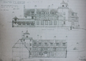 Webb's drawings of the north amd south elevations RIBA Library