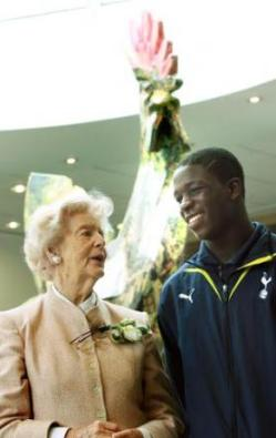 The Duchess and Tottenham Hotspur Academy player Olumide Durojaiye