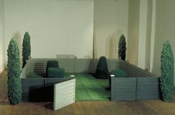 The enclosed garden, 1970 400 x 400 x 160cm Styrene, polypropolene and flock fibre Installation Richard Feigen Gallery