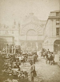 Covent Garden Market, photo by Valentine Blanchard, c.1860 Museum of London