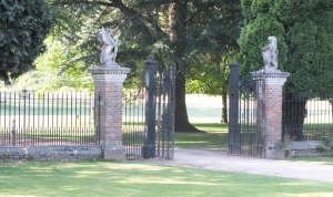 The 1860s entrance gates David Marsh, July 2014