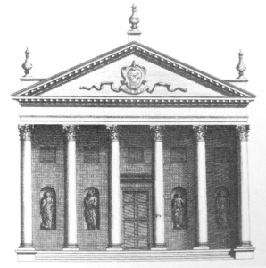 Temple at Eastbury, from Vitruvius Britannicus, 1725