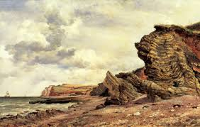 Triassic Cliffs at Blue Anchor Bay, Somerset, by Edward Cooke http://www.magnoliabox.com/artist/19441/edward-william-cooke