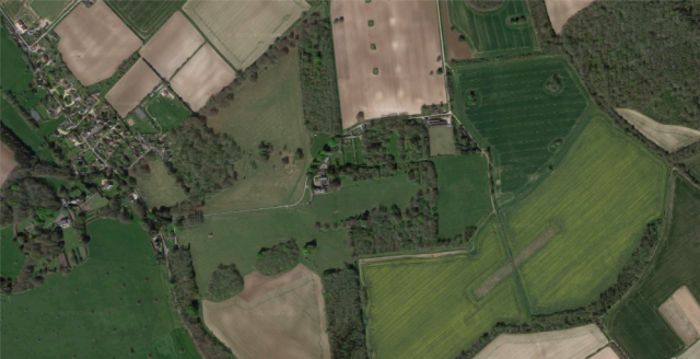 aerial view of the site today Google maps