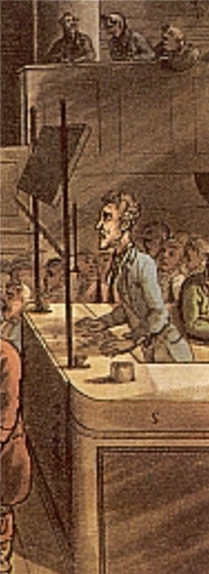 detail from Thomas Rowlandson, The Old Bailey, from The Microcosm of London, 1808. © London Lives