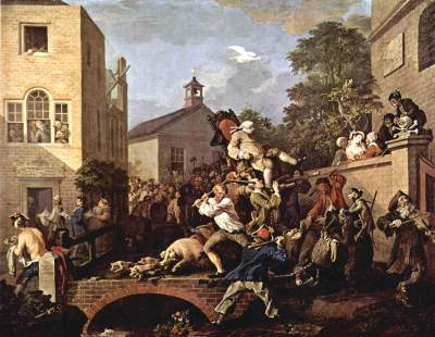 Chairing the Members, William Hogarth, 1755 Sir John Soane Museum