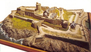 A model of Castle Cornet from http://www.northlincsweb.net/Lambert/html/castle_cornet.html