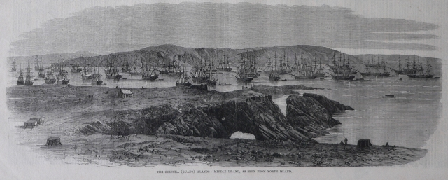 View of the Chincha guano islands, Peru Illustrated London News February, 21st, 1863