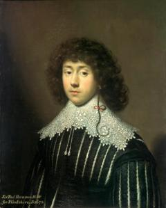 Thomas Hanmer, aged 19, by Cornelius Johnson, 1631, National Museum of Wales