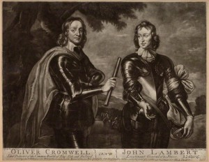 Oliver Cromwell; John Lambert by Andrew Miller, after Robert Walker, 1745, NPG