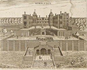 Wimbledon Palace, by Henry Winstanley, 1678 https://www.liveauctioneers.com/item/6514726