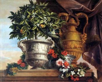 Still life with an orange tree, Jean Baptiste Monnoyer,