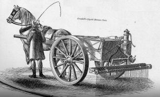 a liquid manure cart from Rural Cyclopaedia 1848