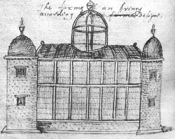 The forme of an Aviary according to Varro, from John Eveyn's Elysium Britannicum