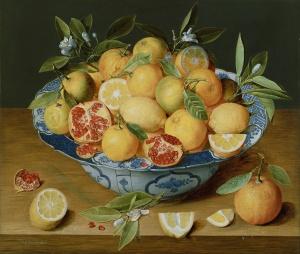 Jacob van Hulsdonck Still Life with Lemons, Oranges and a Pomegranate c1620 - 1640, Getty Museum