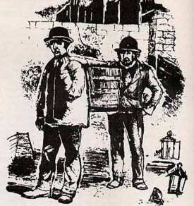 Drawing of Night Soil Men, taken from State of Large Towns in South Staffordshire, page 18