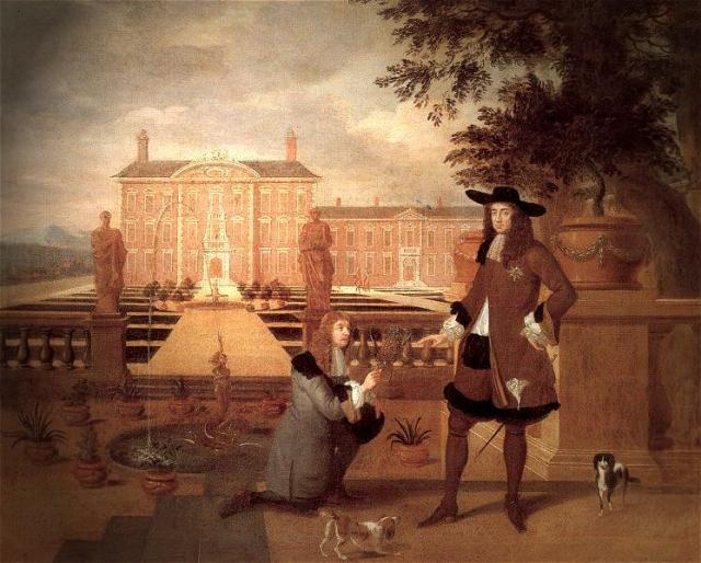 John Rose (1619–1677), the Royal Gardener, presenting a Pineapple to King Charles II