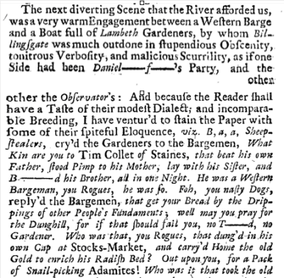 from Vol.3 of The Works of Mr Thomas Brown, Serious and Comical in Prose and Verse, 1720