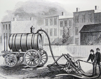 Vacuum pump for removing night soil from cesspools. From ''The Practical Magazine'', London, 1874