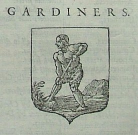 The badge of the Gardeners'COmpany from John Strype's Survey of London, 17xx