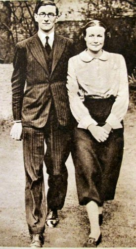 Sir Richard Acland, 15th Baronet, and Lady Acland, from the Illustrated London News, after the announcement in February 1943 that they were giving the estates away to the National Trust.