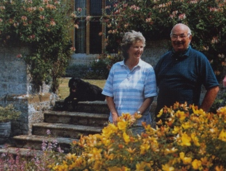 Biddy & Jeremy Chittenden, who lived at the manor from 1955-2003