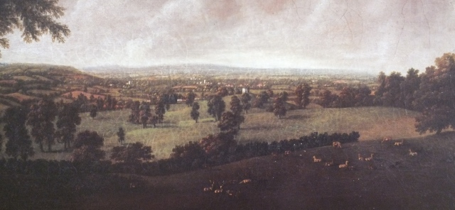 "detail from ""A View of Killerton Park"", William Tompkins, c.1780 National Trust"