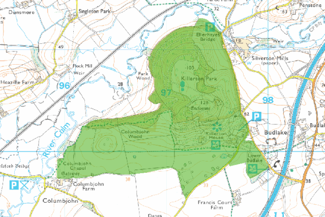 The Killerton Estate © Crown Copyright and database right 2015. All rights reserved. Ordnance Survey Licence number 100024900. © British Crown and SeaZone Solutions Limited 2015. All rights reserved. Licence number 102006.006.