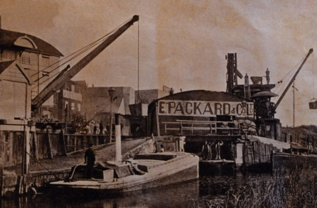 The Old Fisons site in 1916 showing the dock and canal wharf. The North Warehouse is pictured on the left. http://theoldfisonssite.co.uk/history/