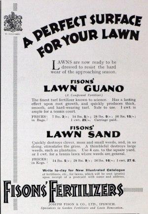 Fisons advert, 1928 http://www.gracesguide.co.uk/File:Im19280211CL-Fisons.jpg