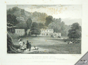 'Killerton House in Devonshire, The Seat of Sir Thos Dyke Acland.' Engraved by H. Wallis from the Drawing by G.B.Campion. Published in 1830