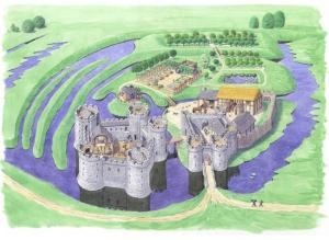 Suggested reconstruction c.1320 http://www.whittingtoncastle.co.uk/history/