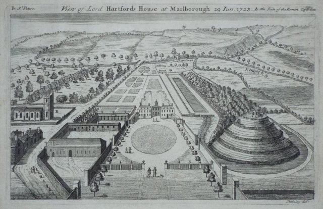View of Lord Hartford's House at Marlborough County: Wiltshire Location: Marlborough Series: Itinerarium Curiosum