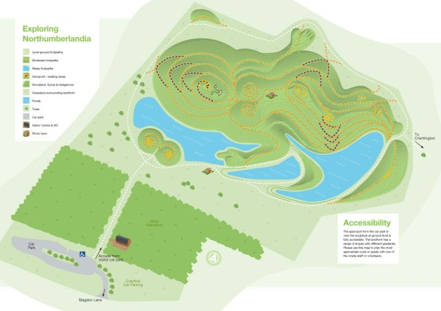 Plan of the Site from http://www.northumberlandia.com