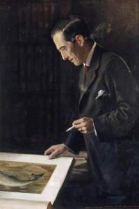 Sir Francis Dyle Acland, by John Berrie, 1920, National Trust @ Killerton; Supplied by The Public Catalogue Foundation