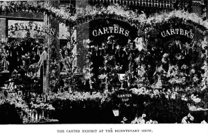 Carters Stand at the Show from The Sweet pea bicentenary celebration. Report of the celebration of the bicentenary of the introduction of the sweet pea into Great Britain by Dean, Richard, 1830-1905 Published 1900
